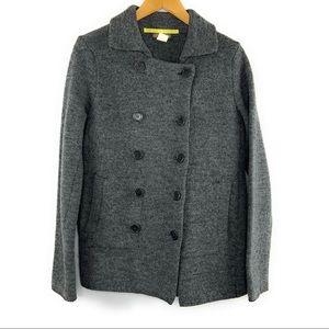 Jcrew Wool Pea Coat Gray